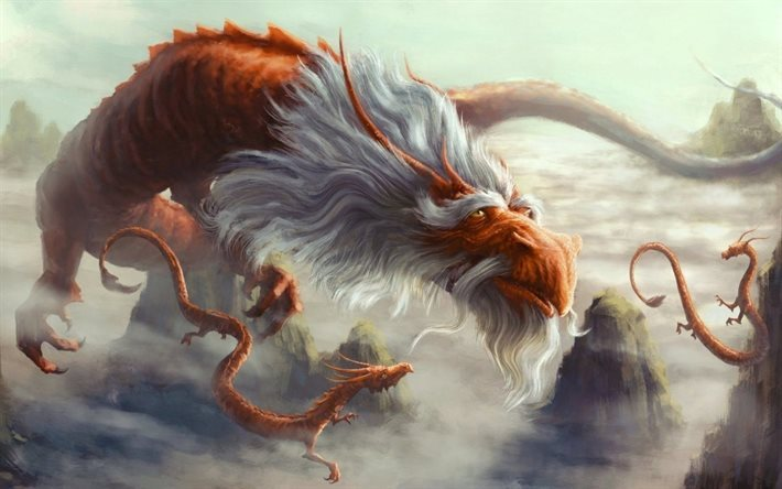 art, fantasy, old dragon