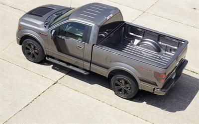 Ford F-150, Tremor, 2016, gray F-150, tuning Ford, black wheels, pickup truck