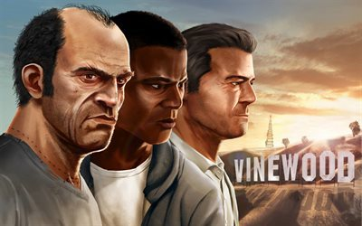 GTA 5, GTA V, Grand Theft Auto V, Michael De Santa, Franklin Clinton, Trevor Phillips