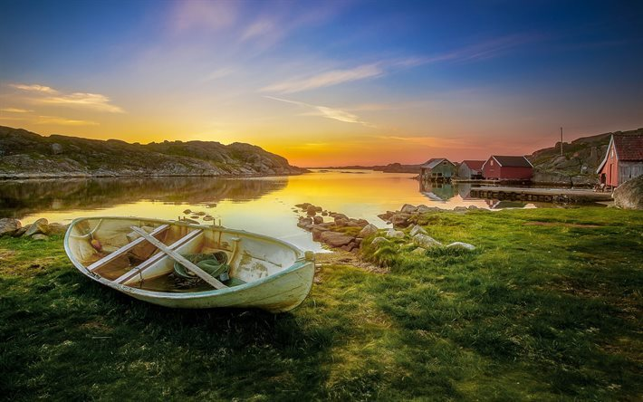 Download Wallpapers Fishing Village Rogaland Norway For
