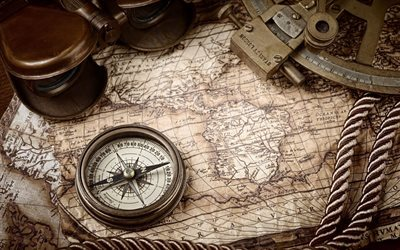 map, compass, travel