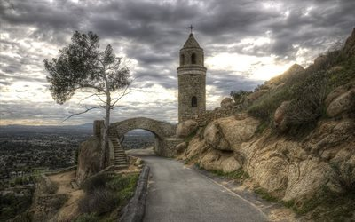 peace tower, rubidoux berg, riverside, ca