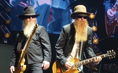 billy gibbons, zz top, dusty hill
