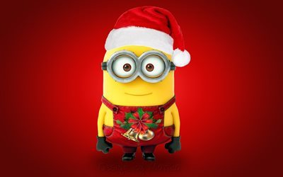 minion, santa, new year