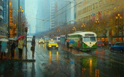 picture, chinese artist, watercolor, san francisco
