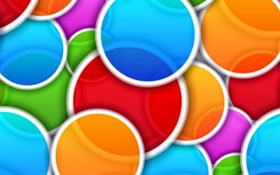 circles, colored circles, abstract circles, bright background