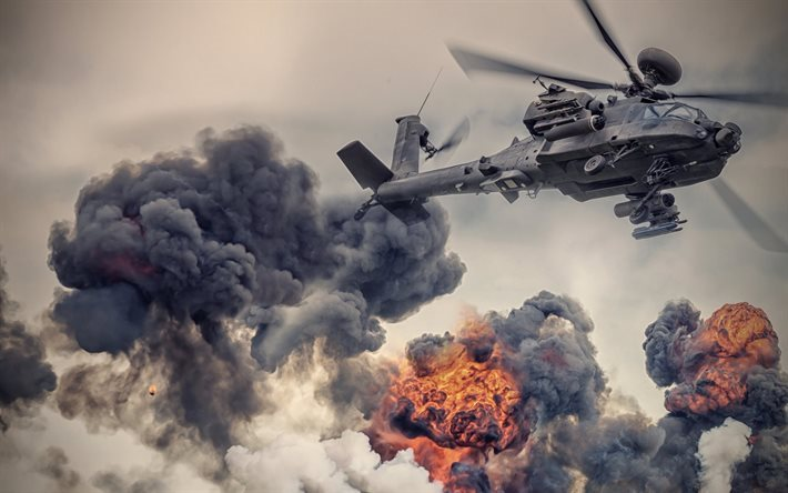 attack helicopter, ah-64, mcdonnell douglass, apache
