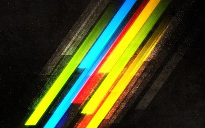 bright lines, multicolored lines, abstraction of lines