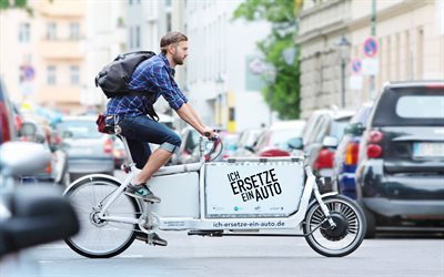 new technologies, courier service, hi-tech, cargo bike