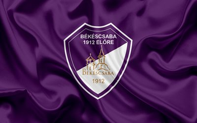 Bekescsaba 1912, Hungarian football team, Bekescsaba emblem, logo, Bekeschaba, Hungary, football, Hungarian football league