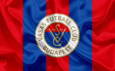 Vasas FC, Hungarian Football Club, emblem, logo, silk flag, Budapest, Hungary, football, Hungarian football league