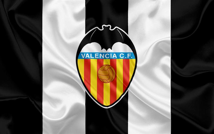 Download Wallpapers Valencia Fc Professional Football Club Emblem