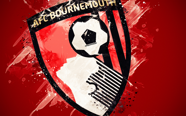 Download Wallpapers AFC Bournemouth, 4k, Paint Art, Logo