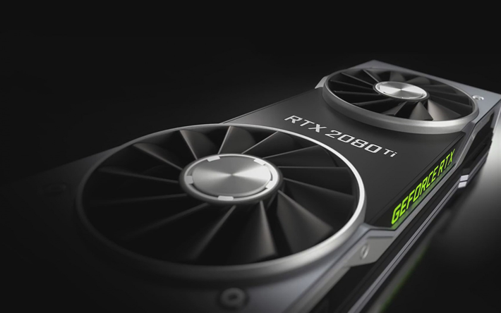 NVIDIA GeForce RTX 2080, new graphics card, coolers, computer parts, cooling, novelties, NVIDIA