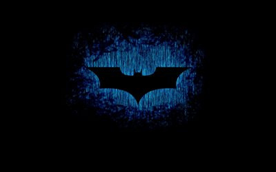 4k, Batman logo, darkness, creative