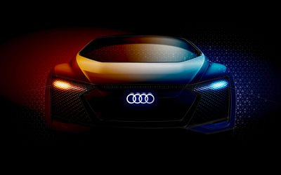 Audi, teaser, supercars, darkness, headlights