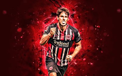 Goncalo Paciencia, 2019, Eintracht Frankfurt FC, Portuguese footballers, soccer, Goncalo Mendes Paciencia, Bundesliga, football, neon lights, Germany