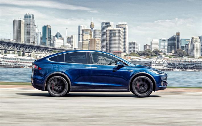Download wallpapers Tesla Model X, 2019, exterior, side ...