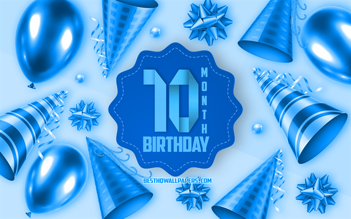 Download Wallpapers Happy 10 Month Birthday, Greeting Card