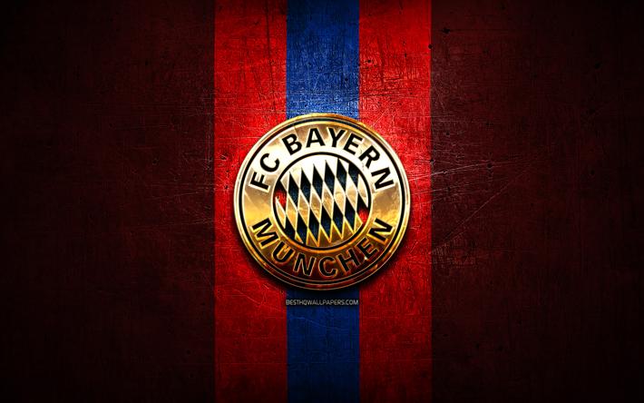 Herunterladen Hintergrundbild Fc Bayern Munchen Golden Logo