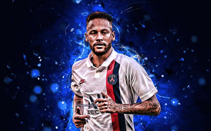 Download Wallpapers Neymar New Uniform 2019 Brazilian