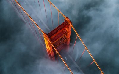 Golden Gate Bridge, fog, morning, San Francisco, USA