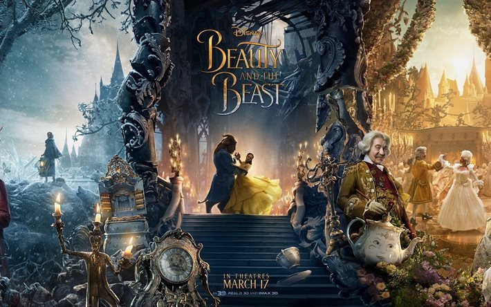 Download Wallpapers Beauty And The Beast 2017 Poster March 17 Emma Watson Belle For Desktop Free Pictures For Desktop Free