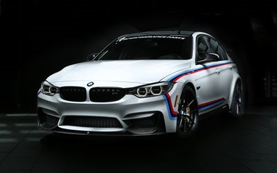 BMW 3-series, F30, 2016 cars, M Performance, tuning, sedans, blue m3, BMW