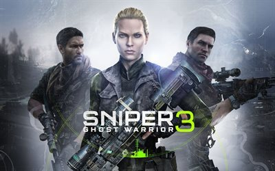 Sniper, Ghost Warrior 3, 2017, poster, new games, Sniper 3