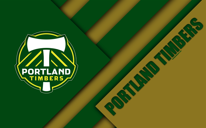 Portland Timbers Material Design 4k Logo Green Brown Abstraction MLS