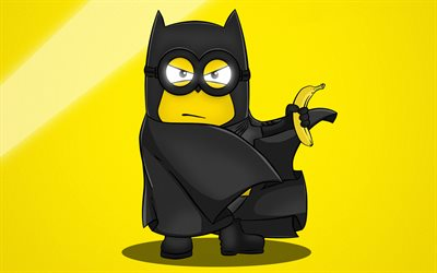 Batman, banana, Minions, Despicable Me, 3D-animation