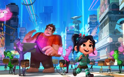 Wreck It Ralph 2, 4k, 2018 movie, Ralph Breaks the Internet, Ralph 2
