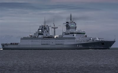 warship, frigate, Baden, F222, German Navy