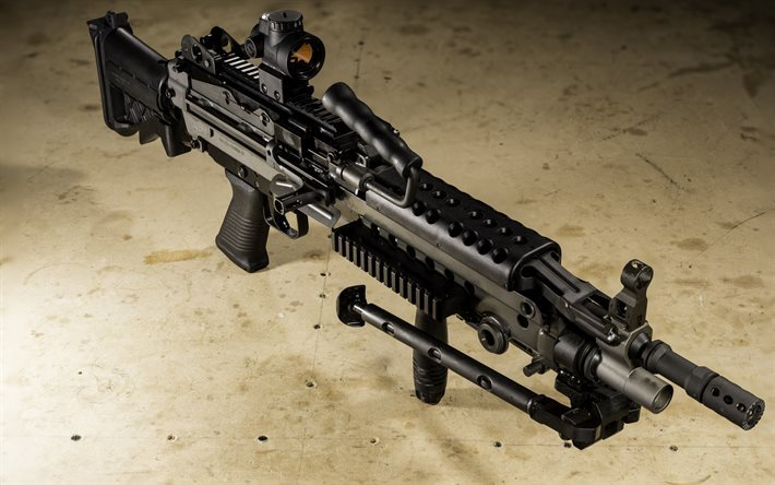 Download Wallpapers Light Machine Gun Fn M249s Lmg M249