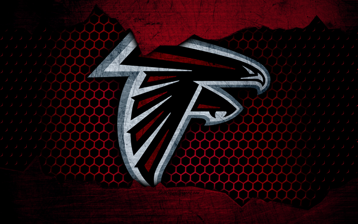 Atlanta Falcons Logo Photos Nfl Iphone Wallpapers: Descargar Fondos De Pantalla Atlanta Falcons, 4k, Logotipo