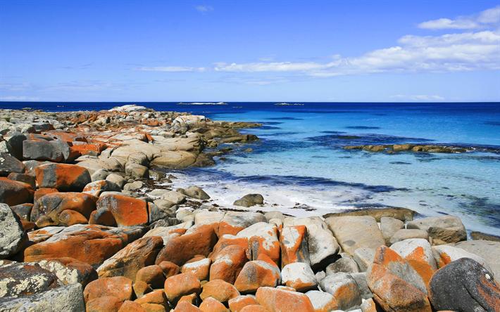 Scarica Sfondi Freise Bay 4k Costa Mare Tasmania Australia