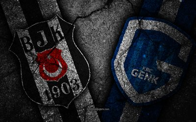 Besiktas vs Genk, UEFA Europa League, Group Stage, Round 3, creative, Besiktas FC, Genk FC, black stone