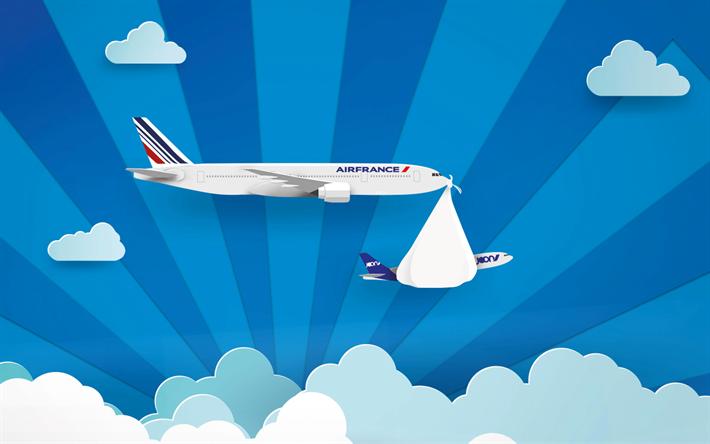 Télécharger fonds d'écran Air France, l'art, l'avion, le