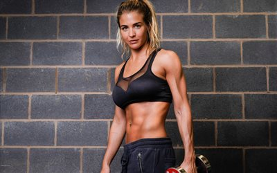 Gemma Atkinson, le mannequin Britannique, fitness, musculation, womens vêtements de sport, des haltères, Photographie, Performance Ultime