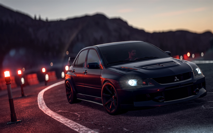 Download Wallpapers 4k Need For Speed Payback Mitsubishi Lancer