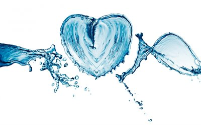 heart of water, water concepts, water, spray, heart