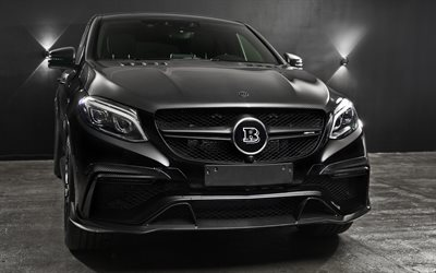 Brabus, tuning, Mercedes-Benz GLE 63 AMG Coupé, 2017 voitures, GLE63, Vus, Mercedes