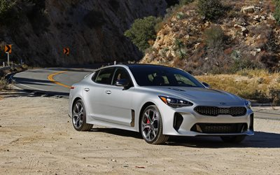 Kia Stinger GT, 4k, 2018 cars, new Stinger, korean cars, Kia
