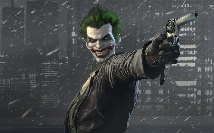 Download wallpapers batman arkham origins supervillain joker batman arkham origins supervillain joker gun voltagebd Gallery