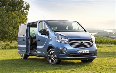 4k, Opel Vivaro Tourer, offroad, 2017 cars, vans, new Vivaro, german cars, Opel