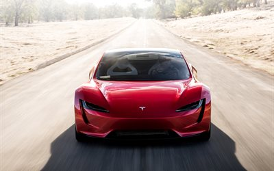 Tesla Roadster, supercars, 2020 cars, electric cars, Tesla