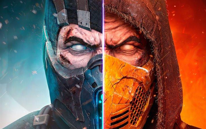 Download Wallpapers Scorpion Vs Sub Zero Battle 2019 Games