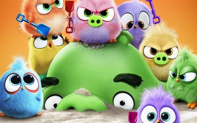 The Angry Birds Movie 2, 2019, poster, promotional materials, main characters, Red, Mighty Eagle, Bomb