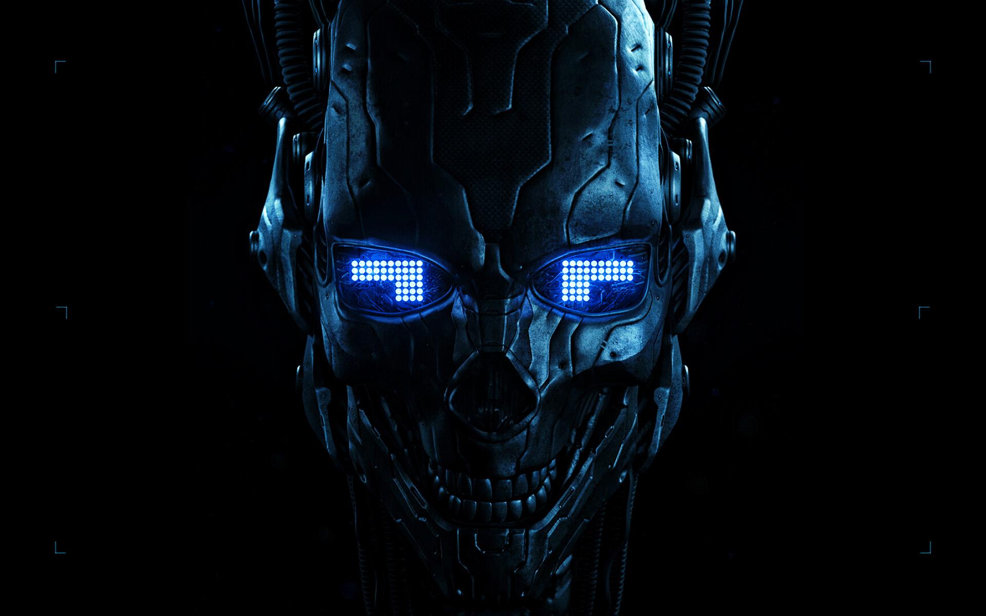 Картинки кибер череп