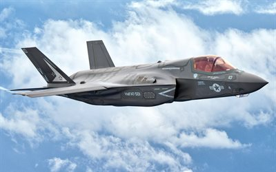 F-35 Lightning II, Lockheed Martin, F-35, fighter-bomber, fifth generation, military aircraft
